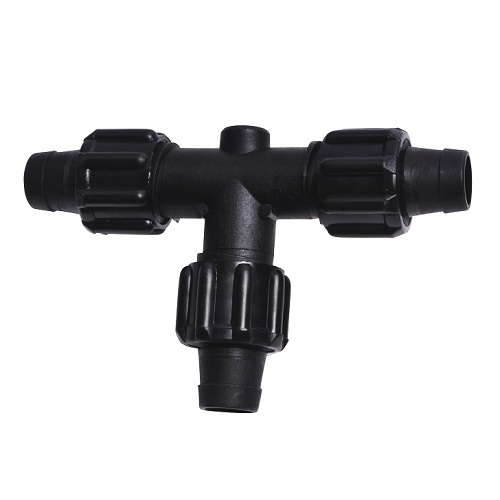 Perma loc tee for quot id tubing drip irrigation parts