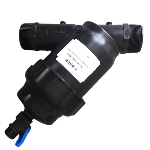 2 Inch Plastic Filter with Flush Valve (MPT x MPT) - Economy